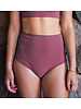 Isole e Vulcani  seamless ladies bikini retro DUE PEZZI - organic jersey cotton with stretch - old pink - S to L