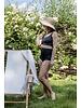Isole e Vulcani  seamless retro bikini women DUE PEZZI - organic jersey cotton with stretch - black - S to L