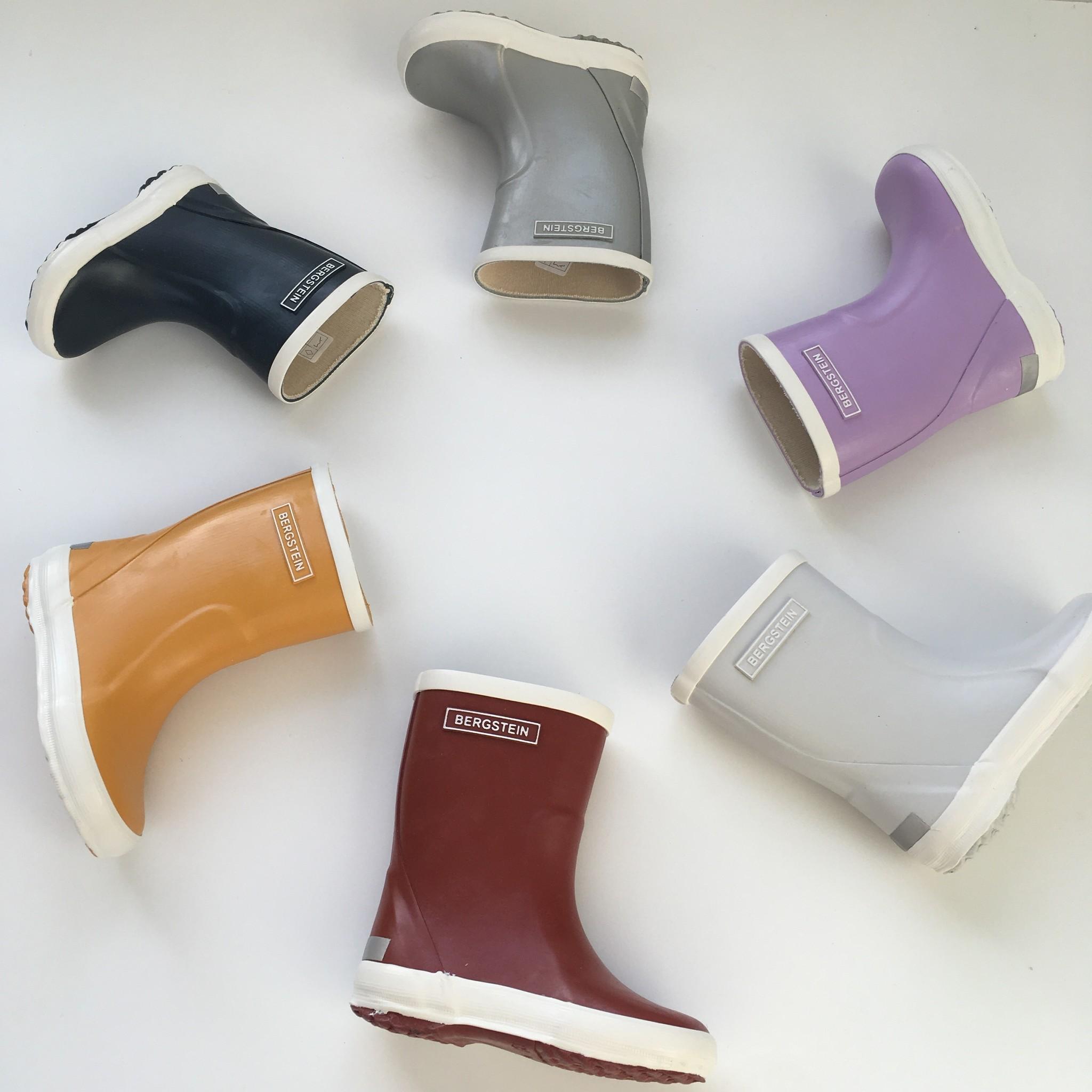 Bergstein flexible rain boot child - 100% natural rubber - silver  - 19 to 34
