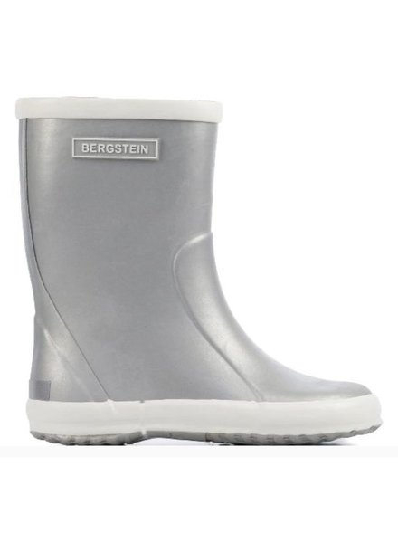 Bergstein flexible rain boot child - 100% natural rubber - silver  - 19 to 34