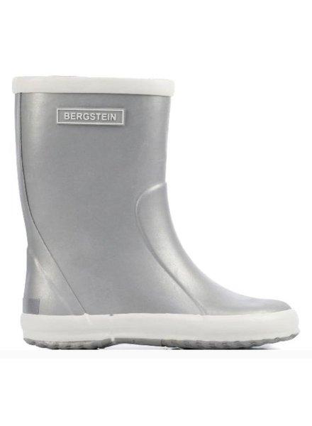 Bergstein soepele regenlaars kind  -  100% natuurrubber - zilver - 19 tm 34