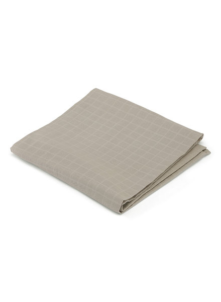 Konges Slojd large muslin cloth - 100% organic cotton - clay - one size