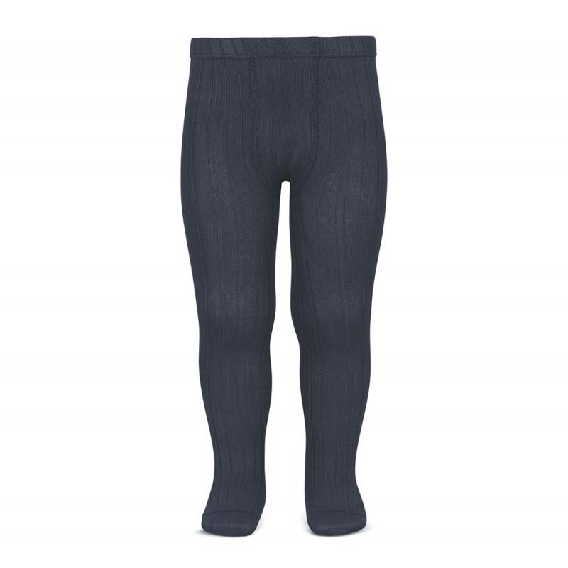 Condor cotton tights - wide-rib basic - concrete grey - 50 to 180 cm
