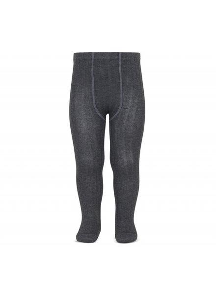 Condor cotton tights - wide-rib basic - anthracite - 50 to 180 cm