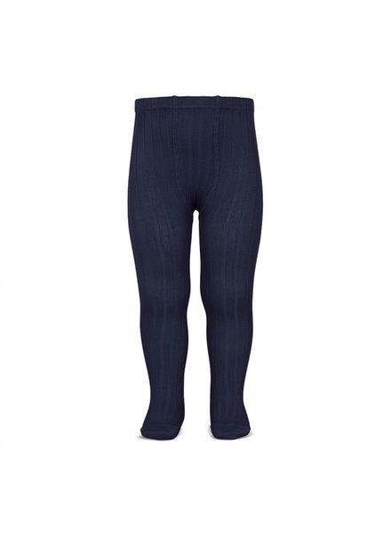 Condor katoenen maillot - brede rib - donker blauw  - 50 tm 180 cm