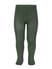 Condor cotton tights - wide-rib basic - amazonia - 50 to 180 cm