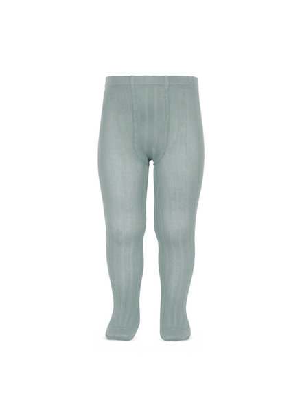Condor cotton tights - wide-rib basic - pale jade - 50 to 180 cm