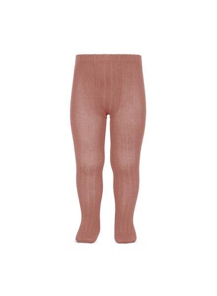 Condor katoenen maillot - brede rib - terracotta roze - 50 tm 180 cm