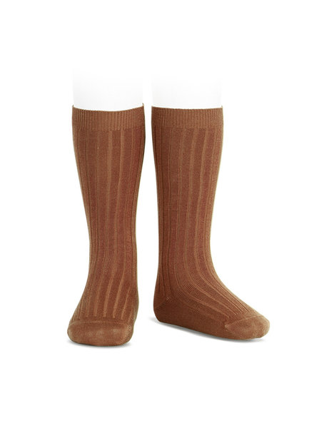 Condor knee socks - ribbed cotton - rust - size 00 to 41