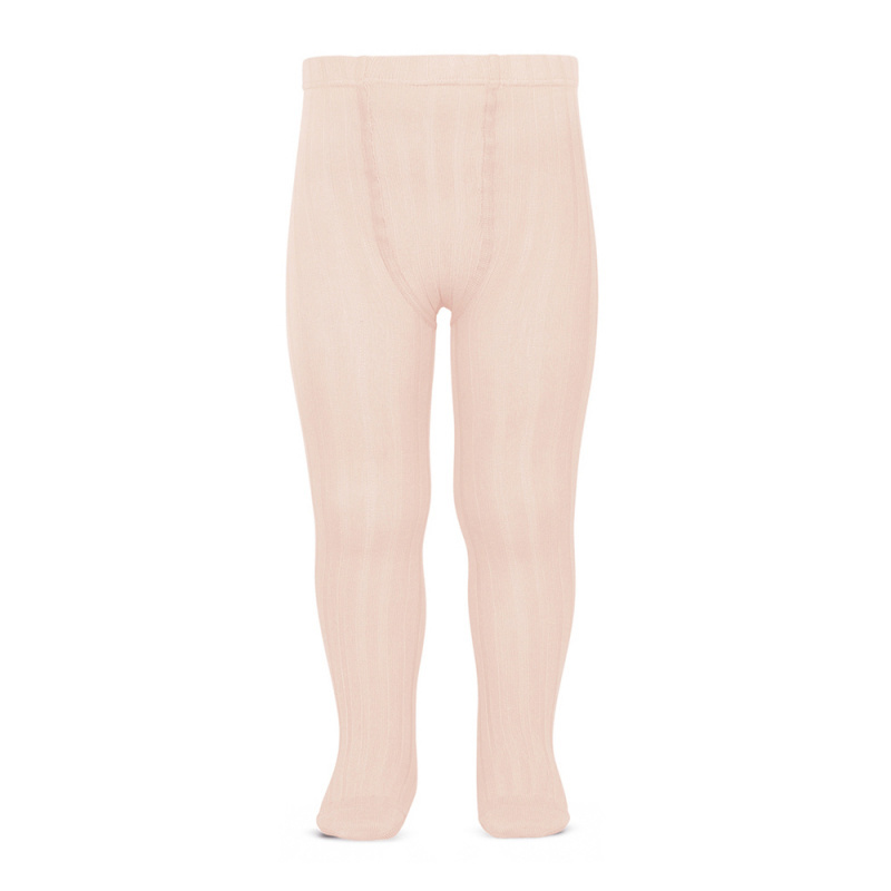 Condor cotton tights - wide-rib basic - nude - 50 to 180 cm