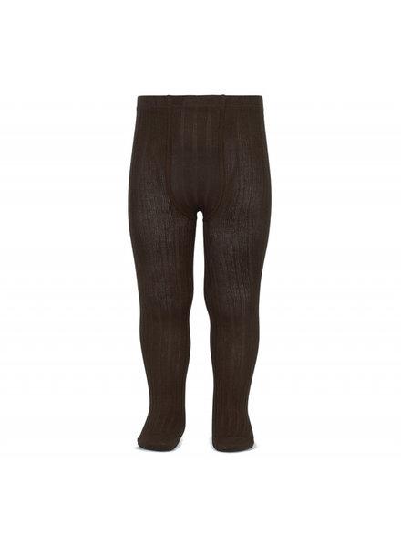 Condor katoenen maillot - brede rib - donker bruin - 50 tm 180 cm