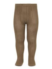 Condor cotton tights - wide-rib basic - tobacco - 50 to 180 cm