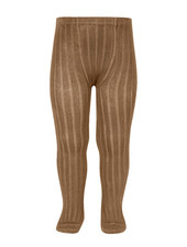 Condor cotton tights - wide-rib basic - toffee - 50 to 180 cm