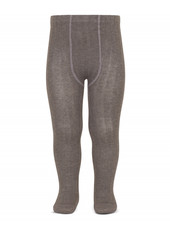 Condor cotton tights - wide-rib basic - brown melange - 50 to 180 cm