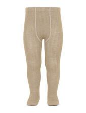 Condor cotton tights - wide-rib basic - nougat beige - 50 to 180 cm