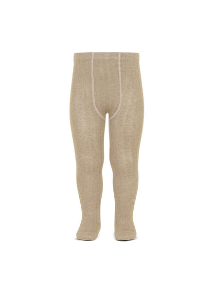 Condor cotton tights - wide-rib basic - nougat beige - 50 to 180 cm