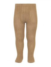 Condor cotton tights - wide-rib basic - camel - 50 to 180 cm
