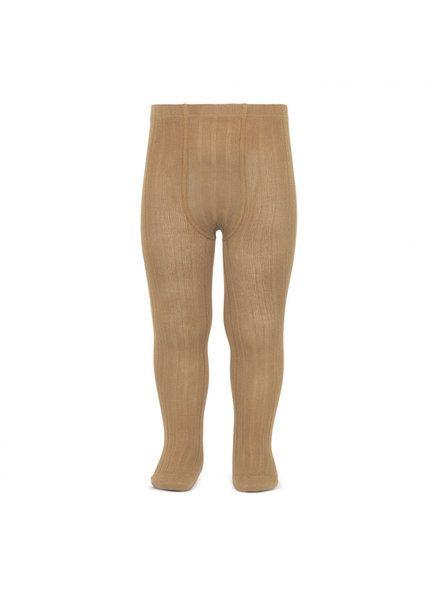 Condor cotton tights - wide-rib basic - camel - 50 to 180 cm
