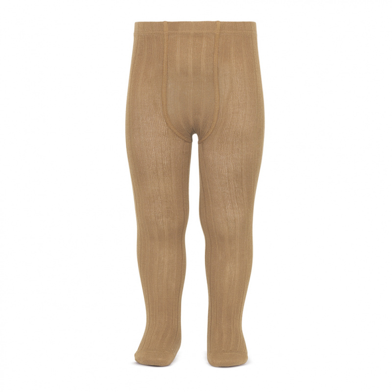 Condor katoenen maillot - brede rib - camel - 50 tm 180 cm