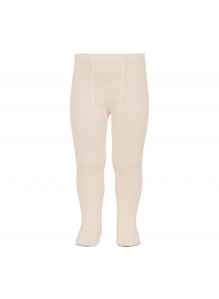 Condor cotton tights - wide-rib basic - linen - 50 to 180 cm
