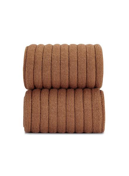 Condor cotton tights - wide-rib basic - cinnamon - 50 to 180 cm