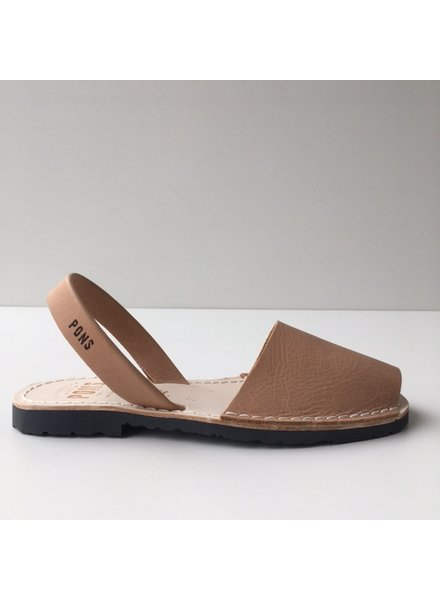 Pons  leren avarca sandaal dames PARIS -  tan beige - 35 tm 42