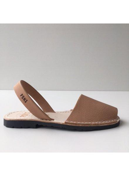 Pons  women avarca sandal PARIS - tan leather - 35 to 42