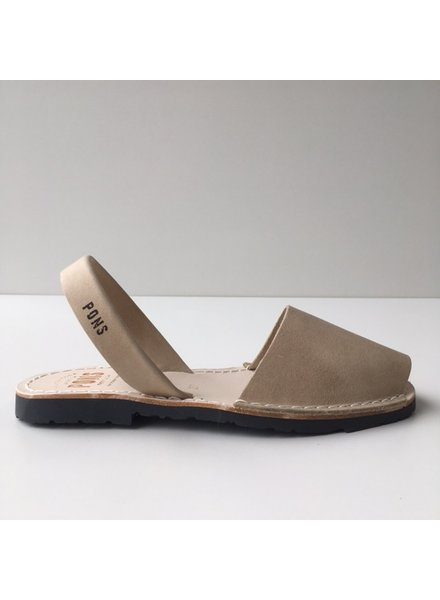 Pons  women avarca sandal PARIS -  sand leather - 35 to 42