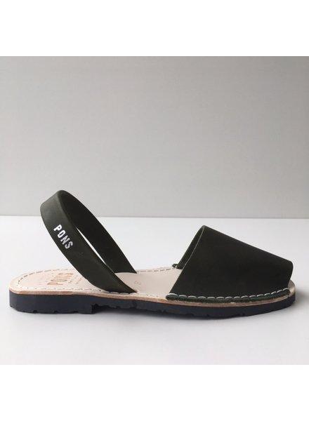 Pons  women avarca sandal PARIS -  forrest green - 35 to 42