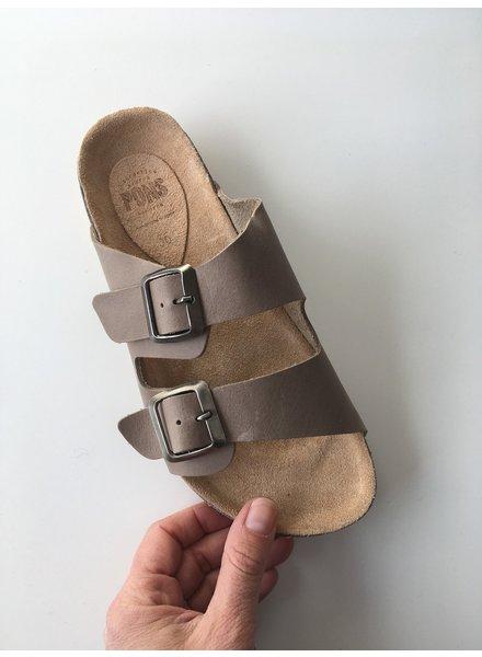 Pons  leather cork sandal ladies STUTTGART - taupe - 35 to 42