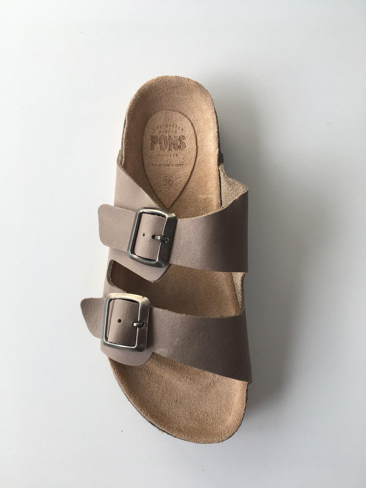 Pons  leren kurk sandaal dames STUTTGART - taupe - 35 tm 42