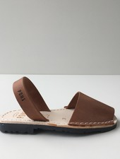 Pons  children's avarca sandal DUNA - brown leather - 35 to 42