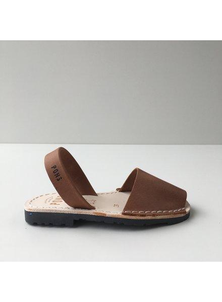 Pons  leren avarca sandaal kind DUNA - bruin - 26 tm 34