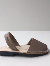 Pons  children's avarca sandal DUNA - taupe leather - 26 tm 34