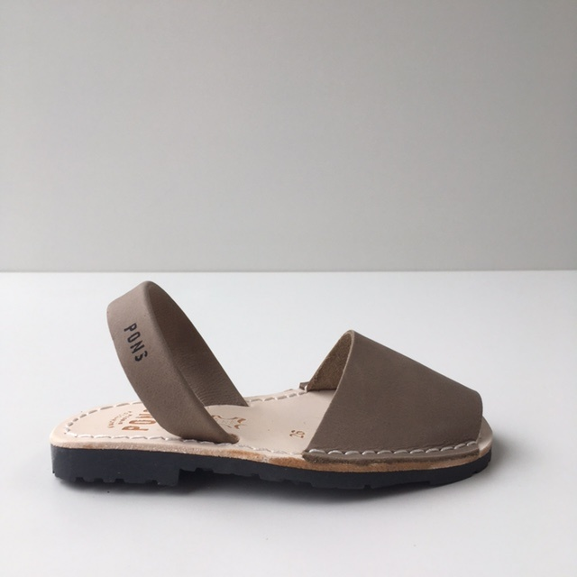 Pons  leren avarca sandaal kind DUNA - taupe - 26 tm 34