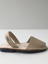 Pons  children's avarca sandal DUNA - sand beige leather - 26 to 34