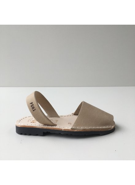 Pons  children's avarca sandal DUNA - sand beige leather - 26 to 34