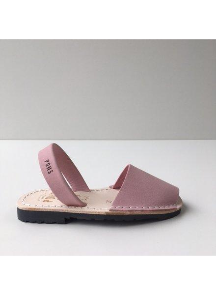 Pons  leren avarca sandaal kind DUNA - licht roze - 26 tm 35