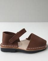 Pons  leren avarca sandaal kind BOSQUE - bruin - 22 tm 25