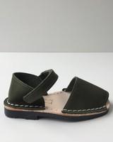 Pons  leren avarca sandaal kind BOSQUE - dennen groen - 22 tm 25