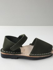 Pons  leather avarca sandal child BOSQUE - forrest green - 22 to 25