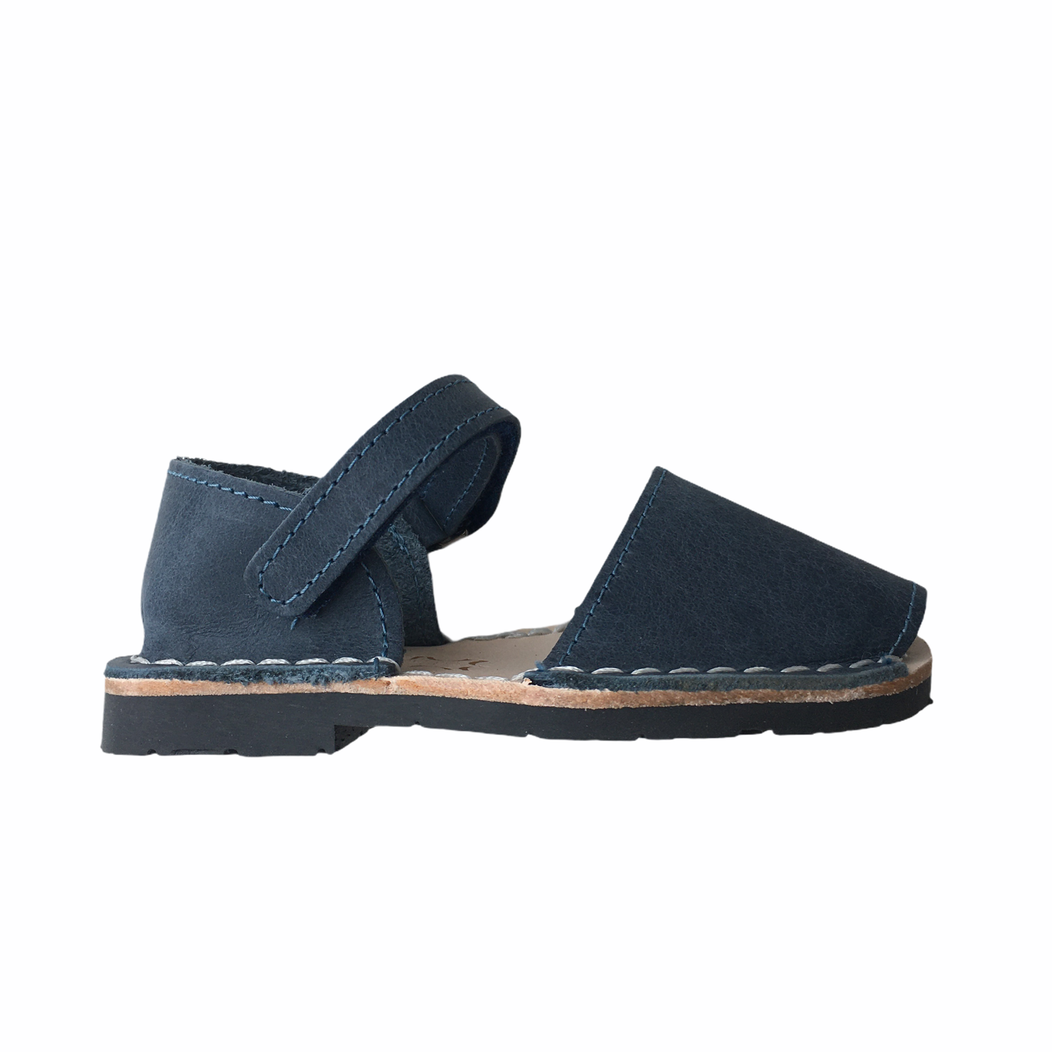 Pons  leather avarca sandal child BOSQUE - navy blue - 22 to 25
