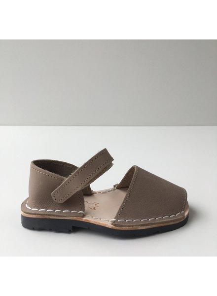 Pons  leren avarca sandaal kind BOSQUE - taupe - 22 tm 25