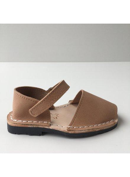 Pons  leren avarca sandaal kind BOSQUE - tan beige - 22 tm 25