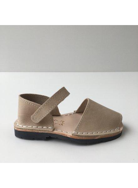 Pons  leren avarca sandaal kind BOSQUE - zandkleur beige - 22 tm 25