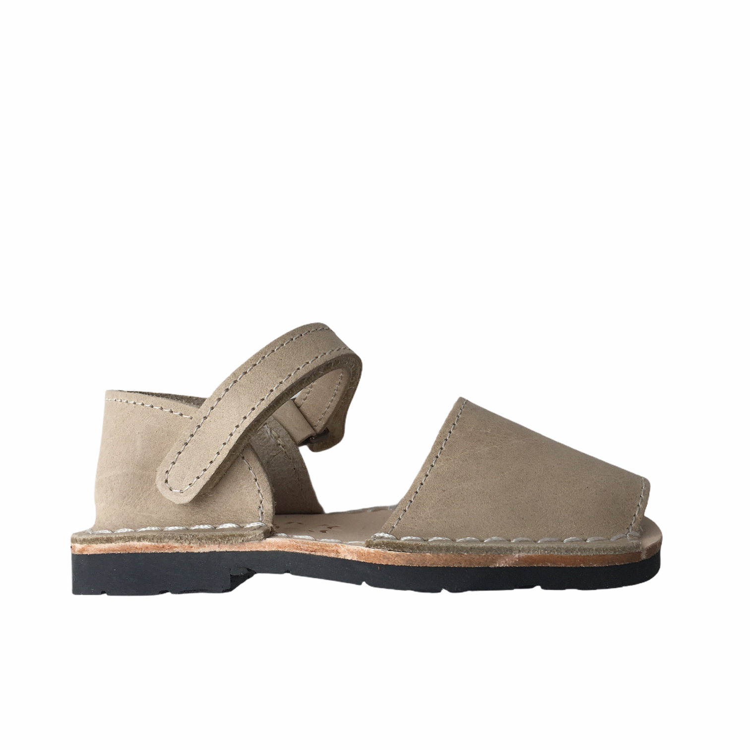 Pons  leather avarca sandal child BOSQUE - sand beige - 22 to 25