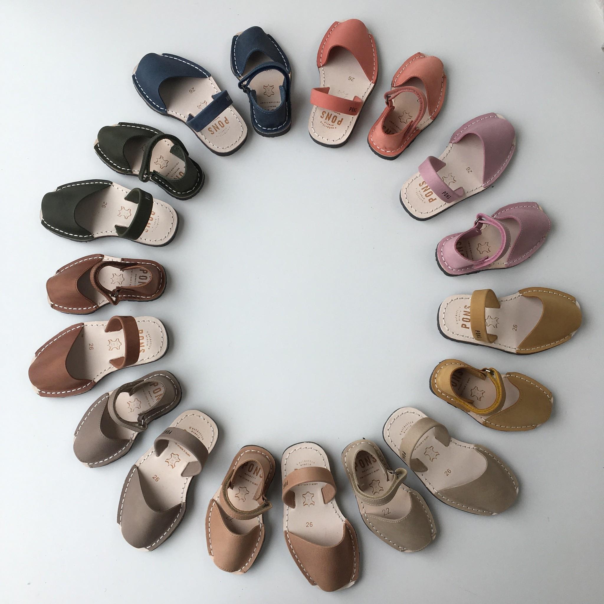 Pons  nubuck leather avarca sandal child BOSQUE - mustard yellow - 22 to 25