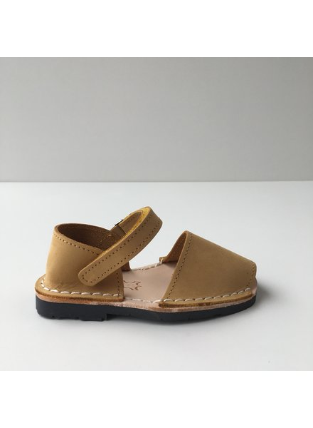 Pons  nubuck leather avarca sandal child BOSQUE - mustard yellow - 22 to 25