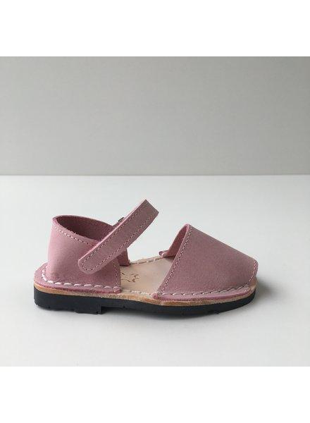 Pons  leren avarca sandaal kind BOSQUE - roze - 22 tm 25
