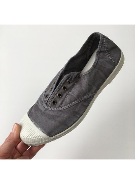 NATURAL WORLD eco sneakers women OLD LAVANDA - organic cotton - stone washed anthracite grey